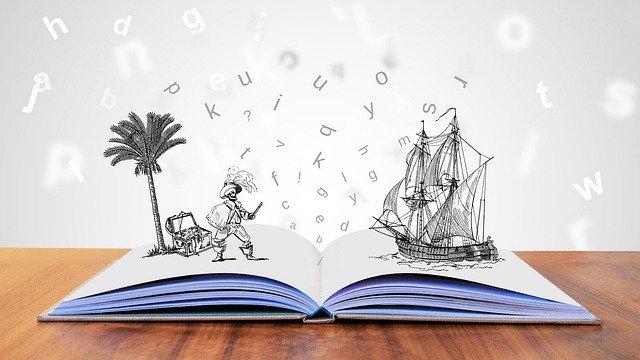 desenho-de-livro-aberto-com-personagens-saindo-dele